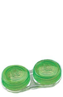Flat bed contact lens case - TRANSLUCENT COLOURS assorted ~ (4 pack)