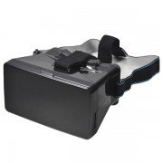 New 2015 Fashion Mobile 3D Google Cardboard Virtual Reality Gaming Headset 3D Stereo Glasses Player Storm Mirror - Black