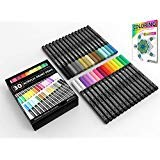 Acrylic Paint Pens 30 Assorted Markers Set 0.7mm Extra Fine Tip for Rock, Glass, Mugs, Porcelain, Wood, Metal, Fabric, Canvas, DIY Projects, Detailing. Non Toxic, Waterbased, Quick Drying. (Color: Turquoise, green, chartreuse, yellow, orange, red, pink, violet, blue, brown, cream, gold, gray, si)