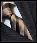 SPEAK Attractive Brown Diagonal Striped Tie