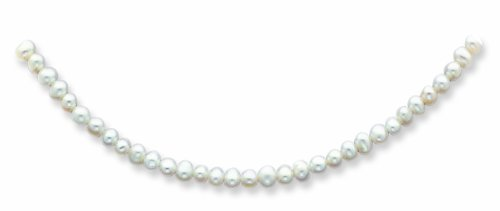 14k 4-4.5mm White Freshwater Onion Cultured Pearl Necklace