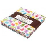 Ann Kelle Urban Zoologie Minis Charm Pack of 42 5-inch Squares of Fabric By Robert Kaufman