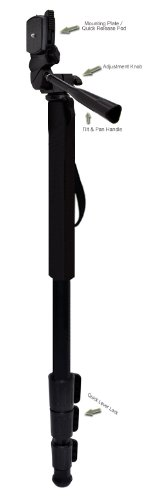 "Professional Black 72"" Monopod / Unipod (Quick Release) For Nikon D7000"