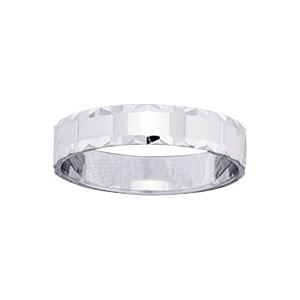 So Chic Jewels - 9k White Gold 4 mm Fantasy Pattern Wedding Band Ring