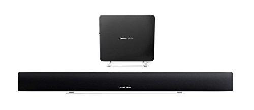 Harman/Kardon Sabre SB35 Sistema Altoparlante Barra Sonora 8.1 Canali HDMI Bluetooth/Wireless con Subwoofer da 100 Watt, Compatibile con Dispositivi Apple iOS/Windows e Android, Nero