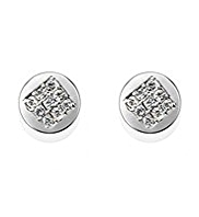 M&S Collection Diamanté Circle & Square Stud Earrings