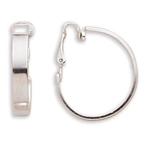 4.5mm Flat Hoop Clip-On Earrings