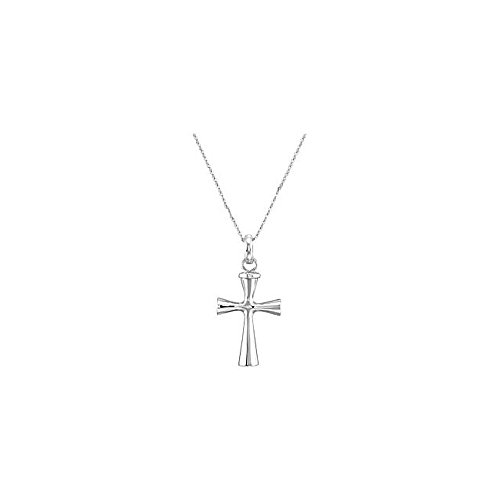 """Clevereve Designer Series Sterling Silver Plain Cross Ash Holder Pendant Necklace W/ 18"""" Chain, Gift Box, Pouch, Funnel, Poem Card & Verse From Scripture"""