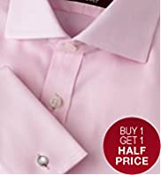 Luxury Sartorial Slim Fit Pure Cotton Twill Shirt