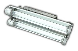 Low Profile Explosion Proof Fluorescent Light Fixture - 2 Foot 4 Lamp Compact Design - 8000 Lumens(-