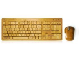 Impecca KBB600CW Bamboo Wirelesskeyboard & Mous