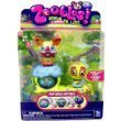Zoobles Dog and Turtle + Happitats (Colors Vary)