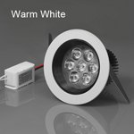 7W Led Ceiling Light Lamp Downlight Ac85-265V Dia.108 X H80Mm - Warm White
