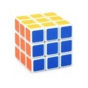 Intelligent Education 3 x 3 x 3 Brain Teaser Maguc IQ Cube - Multicolored White + Red + MultiColored