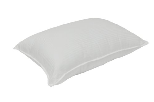 Charisma 300 Cotton Stripe Bed Pillow, Standard/Queen