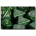 Polyhedral 7-Die Speckled Dice Set - Golden Recon