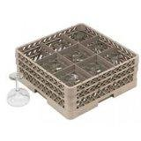 9 Compartment Glass Rack W/ext