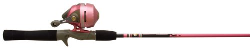 Zebco 202K/562M Ladies Pink Slingshot Spincast Fishing Rod and Reel Combo