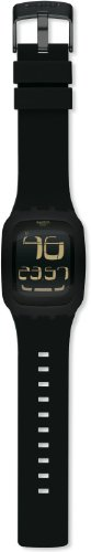 swatch Men's SURB100 Quartz Anti-Reflective Sapphire Crystal Black Watch