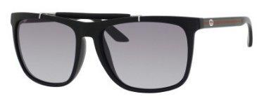 GucciGucci GG3588/S Sunglasses-0KHX Matte Black (VK Gray Gradient Lens)-57mm