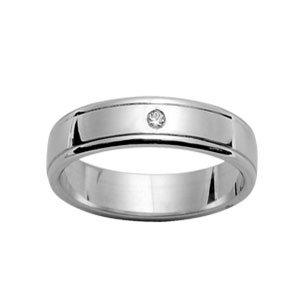 Herren-Ring, Damen-Ring, 5 mm 925 Silber rhodiniert Diamant/&, 64 FranceBijoux/NEU / online bestellen