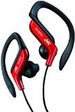 JVC HAEB75R Sports Clip Headphone, Red