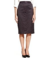 M&S Collection Knee Length Jacquard Floral Lace Pencil Skirt
