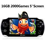 Handheld Game Console,16GB 5 Inch Screen2000 Classic Game, Support Video & Music Playing, Built-in 3M Camera, in 1USB Charge, or Birthday Gift for Kids (Black) (Color: Black, Tamaño: lu89)