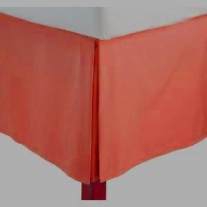 Js Sanders Solid Bedskirt Queen Size, Rust (Orange) front-952687