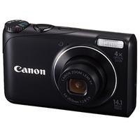 Canon PowerShot A2200 Digital Camera, 14.1 Megapixel, 4x Optical/4x Digital Zoom, 2.7-inch LCD Display, 720p HD Video, Black - Refurbished