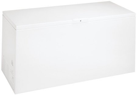 Frigidaire FGCH25M8LW 24.9 Cubic Foot Chest Freezer with Lock with Pop-out Key and Power-on Indicator, White