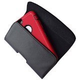 iPhone 6 4.7 inch Screen Belt Clip Case Premium Black Leather Holster Pouch Protector Fits iPhone 6 With Otterbox Case Waterproof Case On