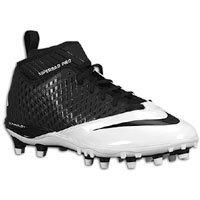 Nike Lunar Super Bad Pro TD Men\'s Molded Football Cleats (11.5, Black/Black-White)