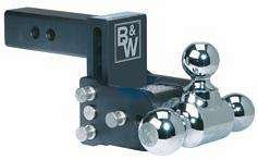 B&W TS10037B Tow and Stow Magnum Receiver Hitch Double - Ball Mount