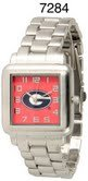 NCAA Officially Licensed Georgia Bulldogs Mens Metal Square-faced Wristband Watch by Time World