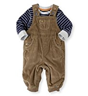 2 Piece Autograph Pure Cotton Corduroy Dungaree Outfit