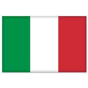 Italy Italia Italian Flag bumper sticker decal 5