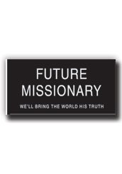 LDS Future Missionary Name Tag Pin - Great for Primary & Baptism Gifts