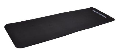Yogamatte Pilates Gymnastikmatte 190 x 60 x 1,5 cm schwarz