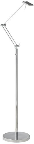Luka Jointed Arm Brushed Steel Led Task Floor Lamp