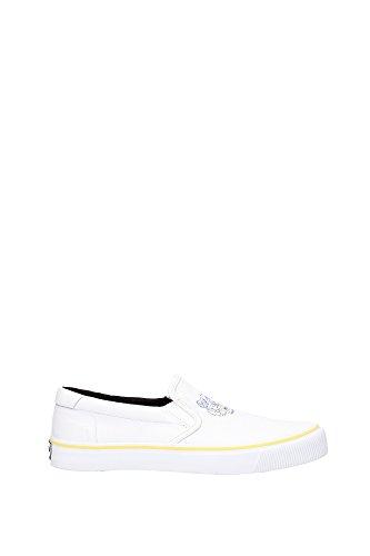 Pantofole Kenzo Uomo Tessuto Bianco, Giallo e Blu M55819E16 Bianco 43EU