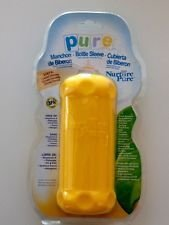 NurturePure BPA FREE Silicone Bottle Sleeve 8 oz Yellow - 1