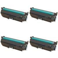 HP Color Laserjet CP3525 / CM3530 Lot Complet de Toners Compatibles de première qualité