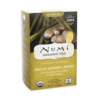 Numi Organic Tea Decaf Ginger Lemon Green Tea, Pack of 2