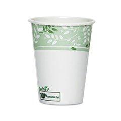 * EcoSmart Hot Cups, Paper w/PLA Lining, Viridian, 12 oz., 5