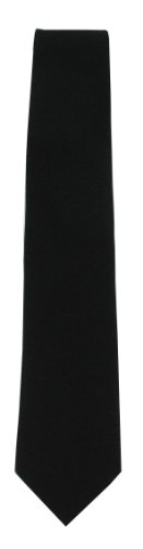 Funeral Tie - Mens Black Tie For Funeral Wear