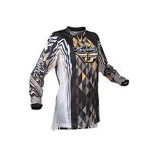 Fly Racing Girls Kinetic Jersey, Black/Gray, Gender: Womens, Size: 2XL 365-4202X
