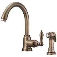 Danze D401540RBD Fairmont 1Handle Kitchen Faucet in Distressed Bronze with Spra
