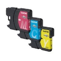 Brother LC61CL 3-Pack Ink Cartridge, 500 Page-Yield,