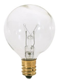 40 Watt - G12 - Clear - 1-1/2 In. Dia. - 130 Volt - 2500 Life Hours - Decorative Globe - Candelabra Base - Bulbrite 301040